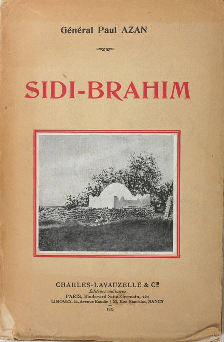 [Algérie] AZAN - Sidi Brahim - 1930 - Dédicace à Georges Yver - Photo 1 - livre de collection