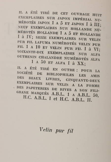 DEREME (Tristan). L'escargot bleu, livre rare du XXe siècle