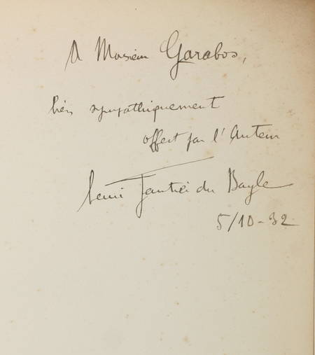 GAUTIER du BAYLE - Faste - Poèmes - 1932 - EO / vélin chiffon de Corvol - Envoi - Photo 0 - livre d'occasion