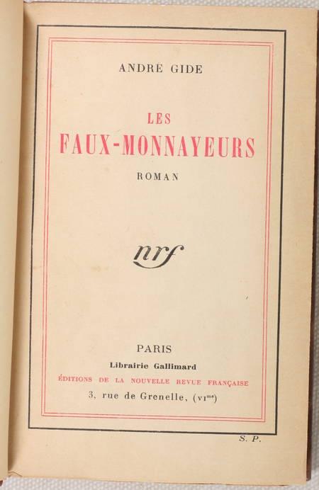 GIDE - Les faux-monnayeurs - 1925 - Relié - Ex-libris - Service de presse - Photo 2 - livre de collection