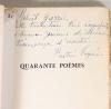 HEINE - 40 poèmes - Texte allemand - Traduction de Diane de Vogüé - 1956 - Photo 0, livre rare du XXe siècle
