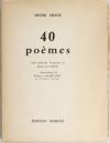 HEINE - 40 poèmes - Texte allemand - Traduction de Diane de Vogüé - 1956 - Photo 1, livre rare du XXe siècle