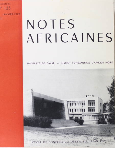 Notes africaines - Dakar - Institut Fondamental d'Afrique Noire - 1970-1977 - Photo 1 - livre moderne