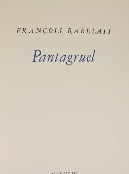 [Typographie] Pantagruel - Tallone - 1944 - Photo 2 - livre moderne