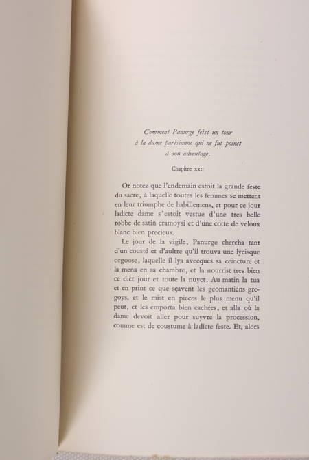 [Typographie] Pantagruel - Tallone - 1944 - Photo 3 - livre de bibliophilie