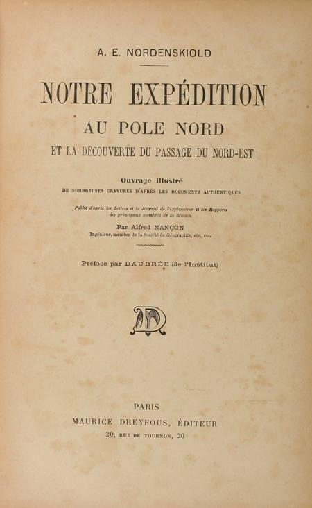 NORDENSKIOLD - Notre expédition au pôle Nord - Passage du Nord-Est - Photo 2 - livre de collection