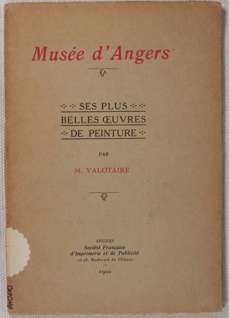[Peinture] VALOTAIRE - Musée d'Angers - 1920 - Photo 0 - livre de bibliophilie