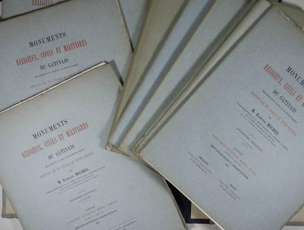 MICHEL - MONUMENTS religeux, civils et militaires du GATINAIS XIe-XVIIIe - 1879 - Photo 1, livre rare du XIXe siècle