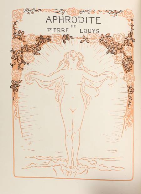 LOUYS - Aphrodite. Moeurs antiques - 1913 - Sur Rives - Frontispice - Photo 1 - livre d occasion