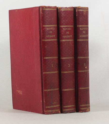 GRESSET - Oeuvres - Bleuet, 1805 3 vol. - Grandes marges - Figures Moreau le J. - Photo 2 - livre d'occasion