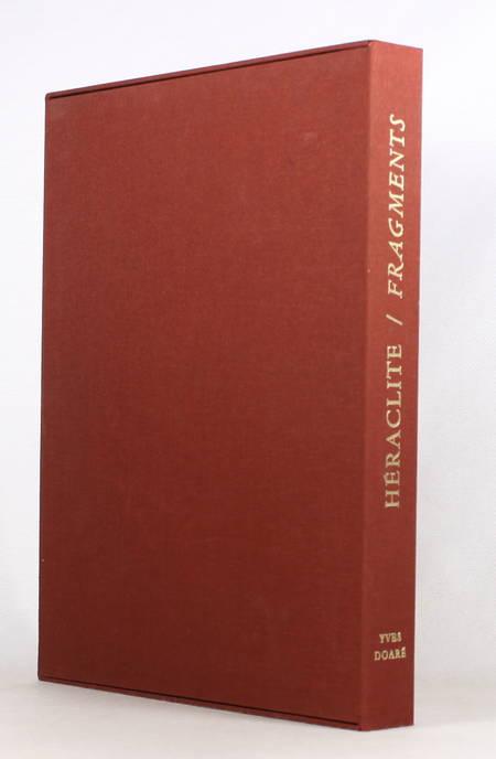 HERACLITE - Fragments - 1994 - Gravures de Yves Doaré - Signé - Photo 1 - livre de collection