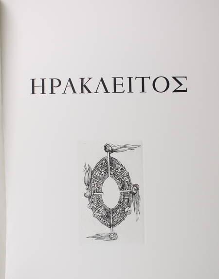 HERACLITE - Fragments - 1994 - Gravures de Yves Doaré - Signé - Photo 2 - livre de collection