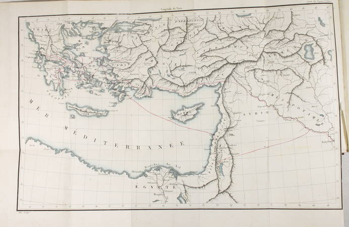 LANTIER - Voyages d Antenor en Grèce et en Asie - 1826 - 3 volumes, carte - Photo 3, livre rare du XIXe siècle