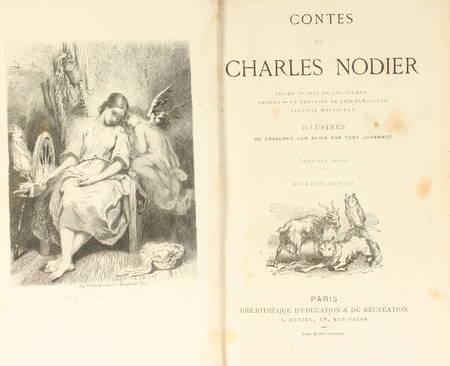Contes de Charles Nodier - Relié - Illustré par Tony Johannot - Photo 0 - livre d'occasion
