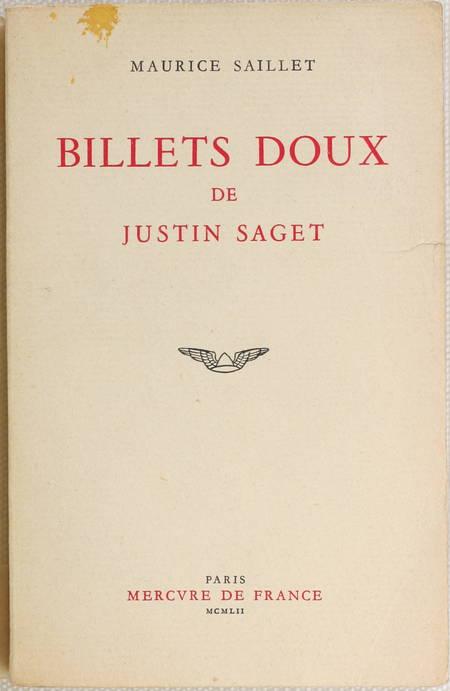 SAILLET (Maurice). Billets doux de Justin Saget