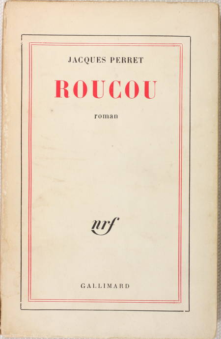 Jacques PERRET - Roucou - 1936 - Edition originale - Photo 0 - livre de collection