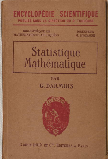 DARMOIS (Georges). Statistique mathématique