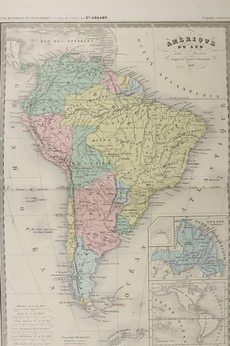ANSART - Atlas ancien et moderne - 62 planches couleurs - Vers 1865 - Photo 0 - livre de bibliophilie