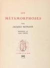 Jacques - REYNAUD Les métamorphoses - 1946 - EO + Lettre + Manuscrit - Photo 1 - livre de collection