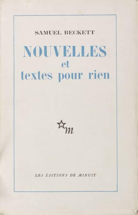 BECKETT - Nouvelles et textes pour rien - 1955 - 1/1100 vélin - Photo 1 - livre de bibliophilie