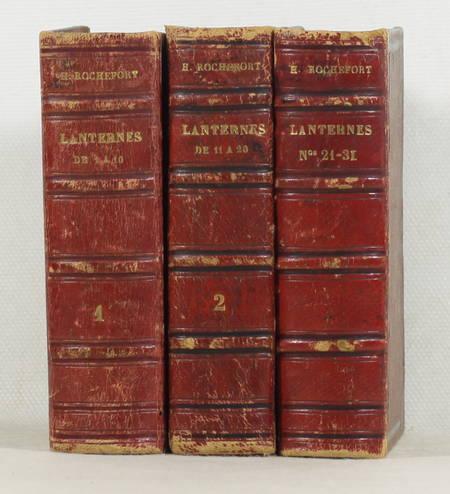Henri ROCHEFORT - La lanterne - 1868 - 3 volumes - 1 à 30 + portait - Photo 1, livre rare du XIXe siècle