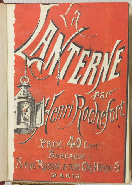 Henri ROCHEFORT - La lanterne - 1868 - 3 volumes - 1 à 30 + portait - Photo 2 - livre du XIXe siècle