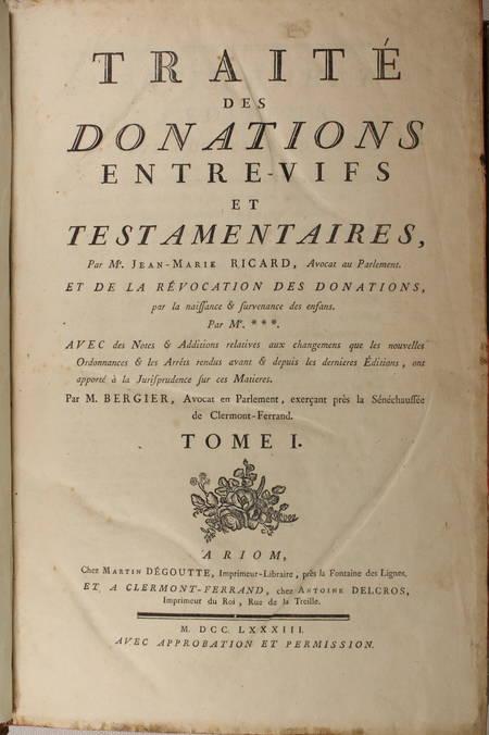 [Droit Picardie] RICARD - Oeuvres : Traités, coutumiers, ... - 1783 - 2 vol in-f - Photo 1 - livre ancien