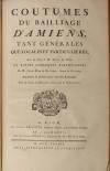 [Droit Picardie] RICARD - Oeuvres : Traités, coutumiers, ... - 1783 - 2 vol in-f - Photo 2, livre ancien du XVIIIe siècle