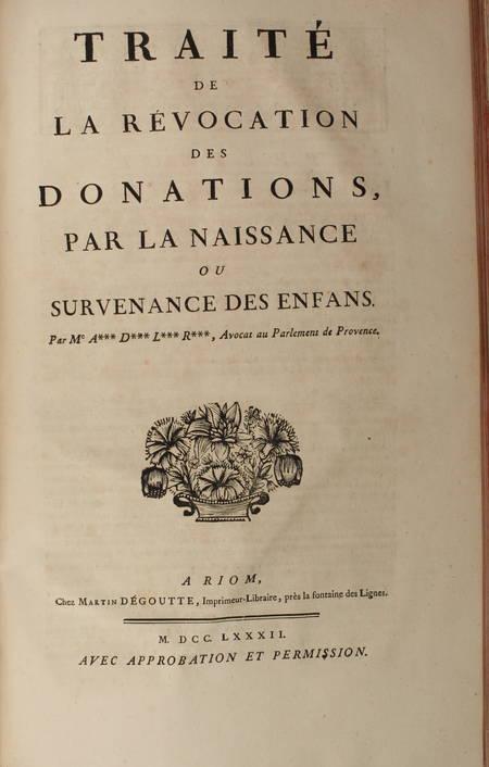 [Droit Picardie] RICARD - Oeuvres : Traités, coutumiers, ... - 1783 - 2 vol in-f - Photo 3 - livre ancien