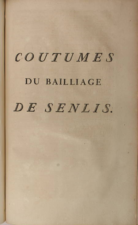 [Droit Picardie] RICARD - Oeuvres : Traités, coutumiers, ... - 1783 - 2 vol in-f - Photo 4 - livre ancien