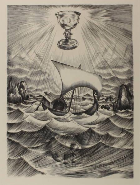 Joseph Bédier - Le roman de TRISTAN et ISEUT - 1948 - Burins de JOSSO - Photo 4 - livre du XXe siècle
