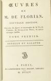 FLORIAN Estelle et Galatée 1805 Reliure de Petit sr de Simier - fig. de Queverdo - Photo 2, livre ancien du XIXe siècle