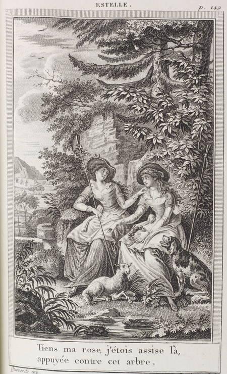 FLORIAN Estelle et Galatée 1805 Reliure de Petit sr de Simier - fig. de Queverdo - Photo 4 - livre de collection