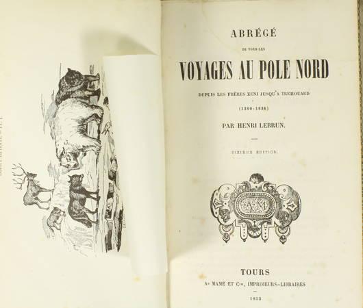 LEBRUN - Voyages au pôle Nord (1380-1836) - Cartonnage romantique illustré - Photo 1 - livre d'occasion