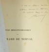 BARBIER (Dr. Gaston). Etude médico-psychologique sur Gérard de Nerval