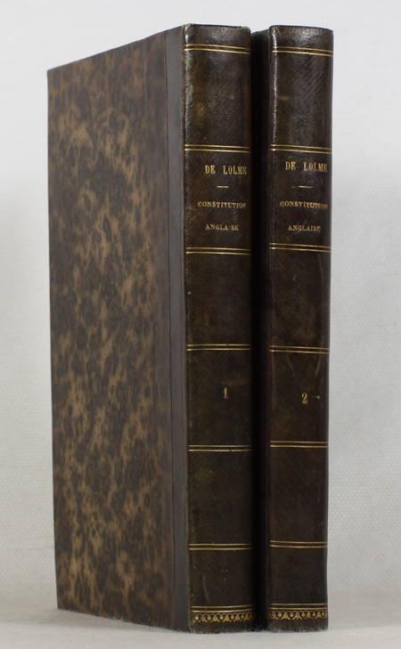 LOLME - Constitution de l'Angleterre ou état du gouvernement anglais - 2v (1822) - Photo 0 - livre de bibliophilie