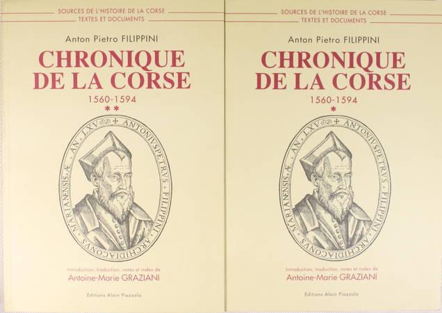 FILIPPINI (Anton Pietro). Chronique de la Corse (1560-1594)