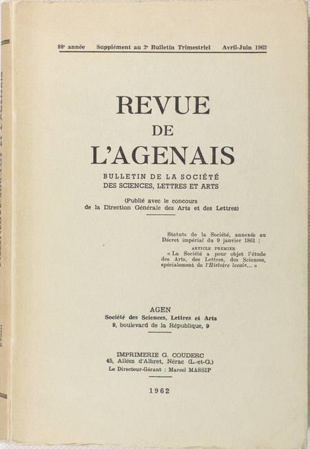 Villeneuve-sur-Lot et l Agenais. Histoire - Art - Géographie - Economie - 1962 - Photo 1, livre rare du XXe siècle