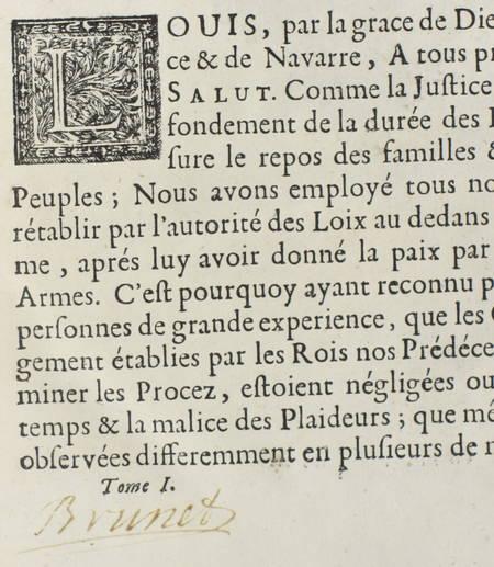 Conférences des ordonnances de Louis XIV, roy de France - 1719 - 2 vol. in-4 - Photo 3 - livre de bibliophilie