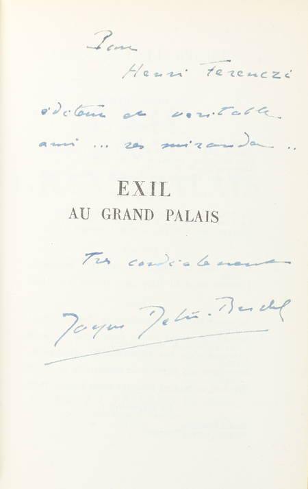 DEBU-BRIDEL (Jacques). Exil au grand palais