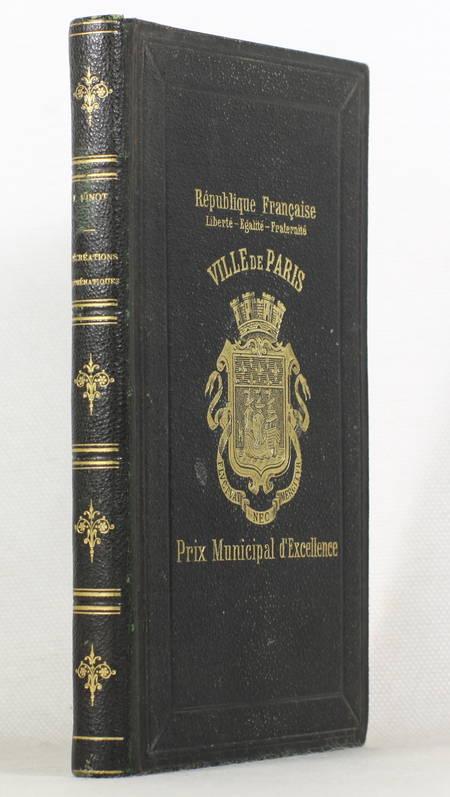 VINOT Récréations mathématiques - Nouveau recueil de questions curieuses [1879] - Photo 0 - livre de collection