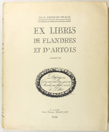 DENIS du PEAGE - Ex-libris de Flandres de d'Artois - Album de planches - 1934 - Photo 0 - livre de collection