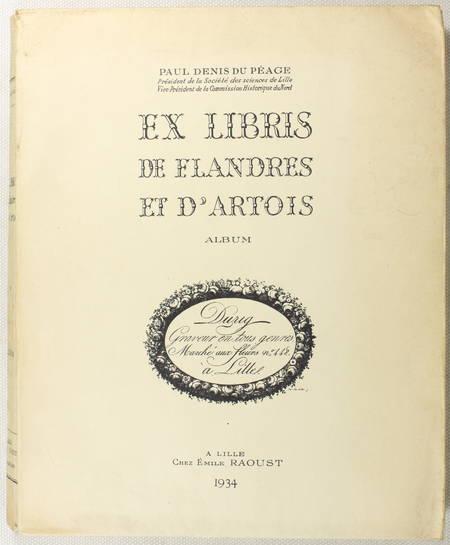 DENIS du PEAGE - Ex-libris de Flandres de d'Artois - Album de planches - 1934 - Photo 0 - livre d'occasion