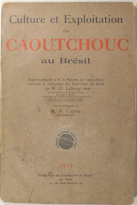 LABROY (O.). Culture et exploitation du caoutchouc au Brésil. Rapport présenté à M. le ministre de l'agriculture, industrie et commerce des Etats-Unis du Brésil