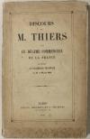 Discours de M. Thiers sur le régime commercial de la France - 1851 - Photo 0, livre rare du XIXe siècle