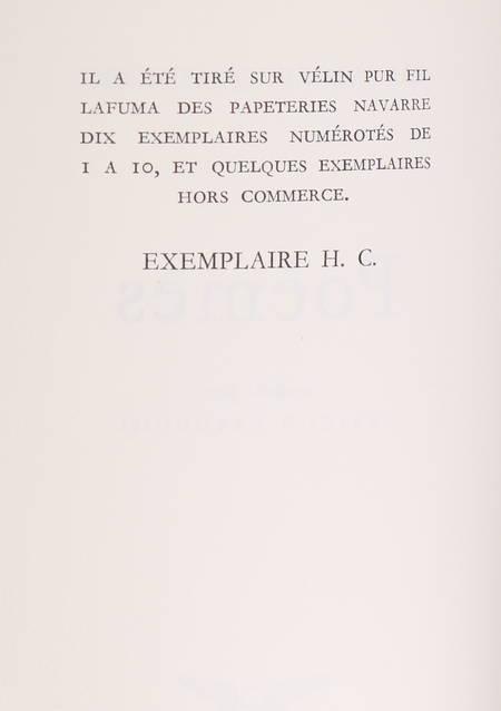 QUASIMODO (Salvatore). Poèmes. Traduits par Pericle Patocchi