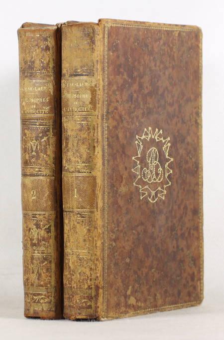 DIOGENE LAERCE - Vies des plus illustres philosophes de l'antiquité 1796 - 2 vol - Photo 2 - livre rare