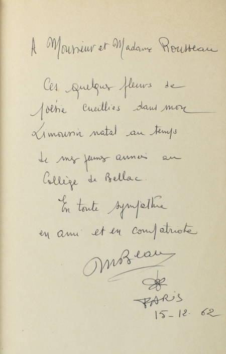 Michel BEAU - Du coeur aux lèvres - 1959 - Envoi - Photo 1 - livre de bibliophilie