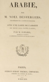 DESVERGERS - L Arabie - 1847 - 48 planches et une carte - Photo 2 - livre d occasion