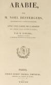 DESVERGERS - L Arabie - 1847 - 48 planches et une carte - Photo 2 - livre du XIXe siècle